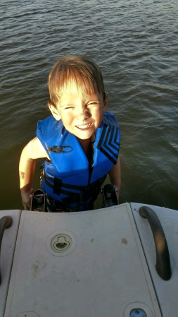 parker on the boat