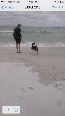 Hank and me at the beach