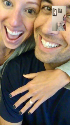 Kasie and Cody facetime pic