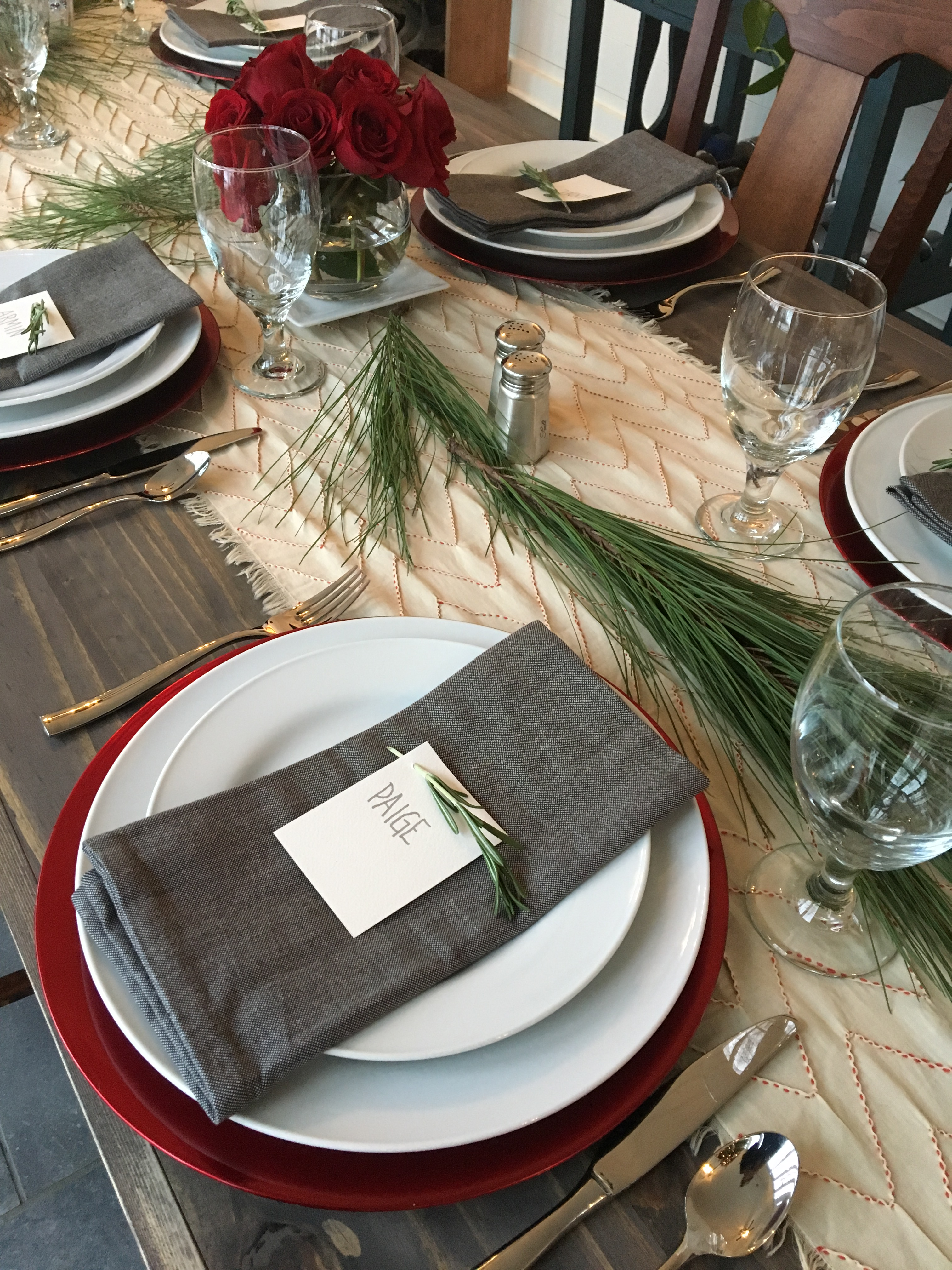 2017 Christmas Paige placesetting
